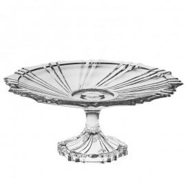 Тарелка для торта на ножке Ikaros 33 см из хрусталя Crystal Bohemia