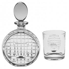 Набор для виски Magnifier 1 штоф 650 мл + 6 стаканов 320 мл из хрусталя Crystal Bohemia