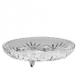 Тарелка на ножках круглая Pinwheel (4 шт) 18,5 см из хрусталя Crystal Bohemia