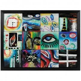 Картина стеклянная Футуризм 65х50 см