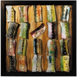 Картина стеклянная Пэчворк 50х50 см