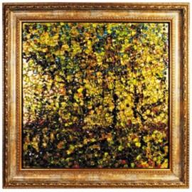 Картина стеклянная Золотая осень 60х60 см