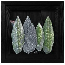 Картина стеклянная Листья Арбор Мунди 40х40 см