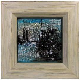 Картина стеклянная Мегаполис 32х32 см
