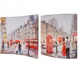 Картина Улицы Лондона 38х38 см (пара)
