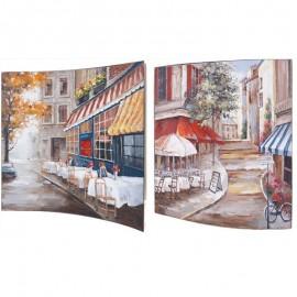 Картина Городское кафе 38х38 см (пара)