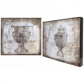 Картина Античность 38х38 см (пара)