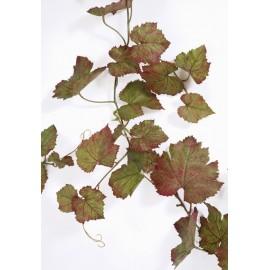 Виноградная гирлянда зеленая с прожилками бордо 230 см