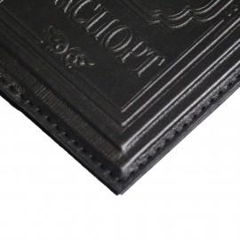 Обложка для паспорта Джентльмен (цвет черный)