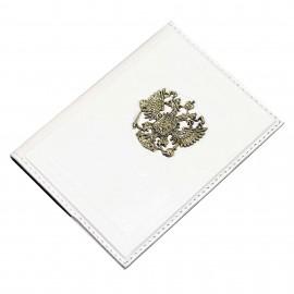 Обложка для паспорта Россия Златоглавая белая
