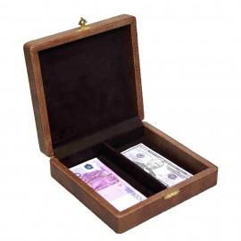 Шкатулка для денег Рубли-Евро