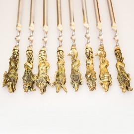 Шашлычный набор Звери на 8 шампуров