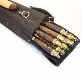 Шашлычный набор Охота № 2 на 8 шампуров