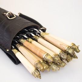 Шашлычный набор Звери на 12 шампуров