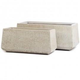 Кашпо Ergo Сork Низкая трапеция белый песок, д-74 см