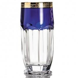 Набор стаканов (6 шт) для воды Сафари 300 мл (кобальт/золото)