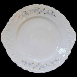 Тарелка с ушками 29 см Rococo 9706 blue