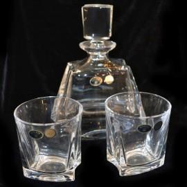Набор для виски 00000 1 штоф 700 мл + 6 стаканов 280 мл из хрусталя Crystal Bohemia