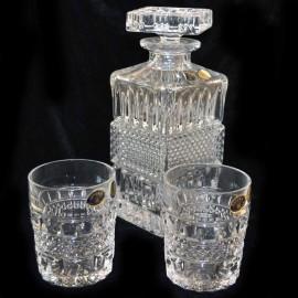Набор для виски 10300 1 штоф 700 мл + 6 стаканов 240 мл из хрусталя Crystal Bohemia