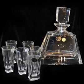 Набор для ликера 58805 1 графин 700 мл + 6 рюмок 60 мл из хрусталя Crystal Bohemia