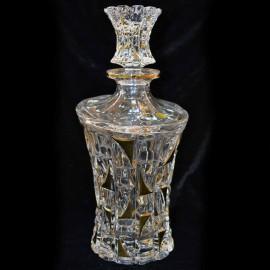Набор для виски PATRIOT GOLD 700 мл + 6 стаканов 200 мл из хрусталя Crystal Bohemia