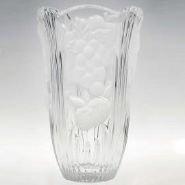 Ваза фрукты матовая 80310 диаметр 15,5 см. из хрусталя Crystal Bohemia