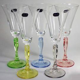 Бокалы для вина Виктория D4646 (ассорти) 230 мл. 6 шт. Crystalex Bohemia